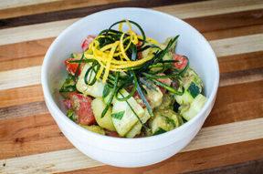 Nick's Picks: Cucumber Avocado And Tomato Salad
