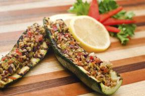 Nick's Picks: Olive Tapenade Stuffed Grilled Zucchini